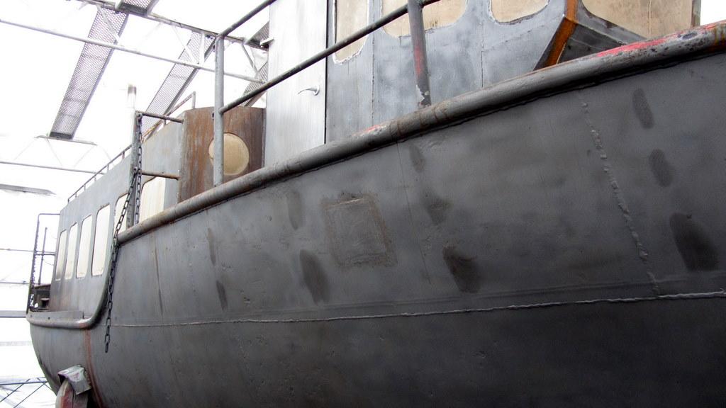 På varvet i Oskarshamn, nov. 2011 - Efter sandblastring