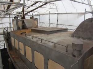 Efter sandblästring överbygning